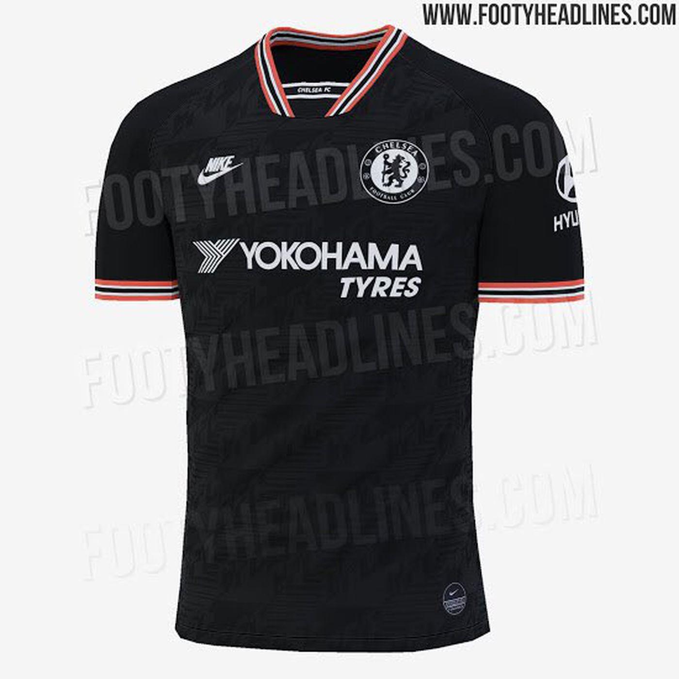 Leaked Black And Tiny Bit Orange Chelsea 2019 20 Third Kit