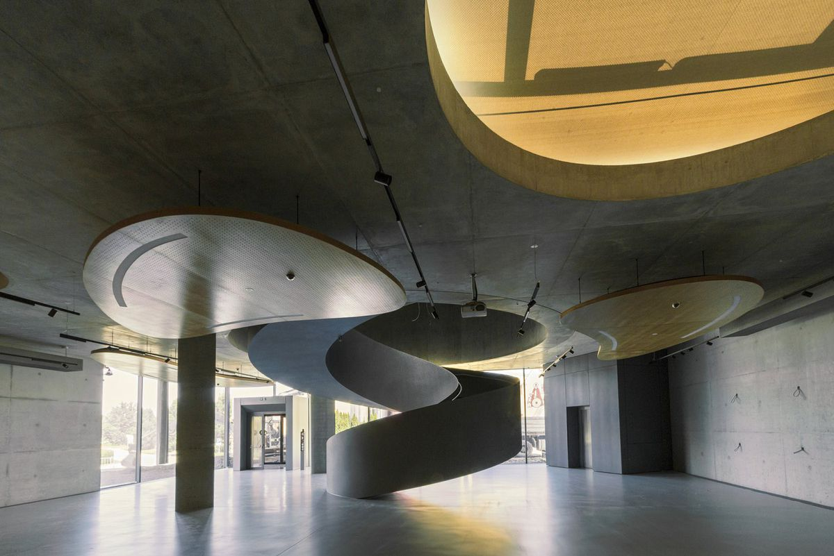 Bread Museum In Austria Topped By Giant Metal Loaf Curbed - Curvy-spiral-house-design