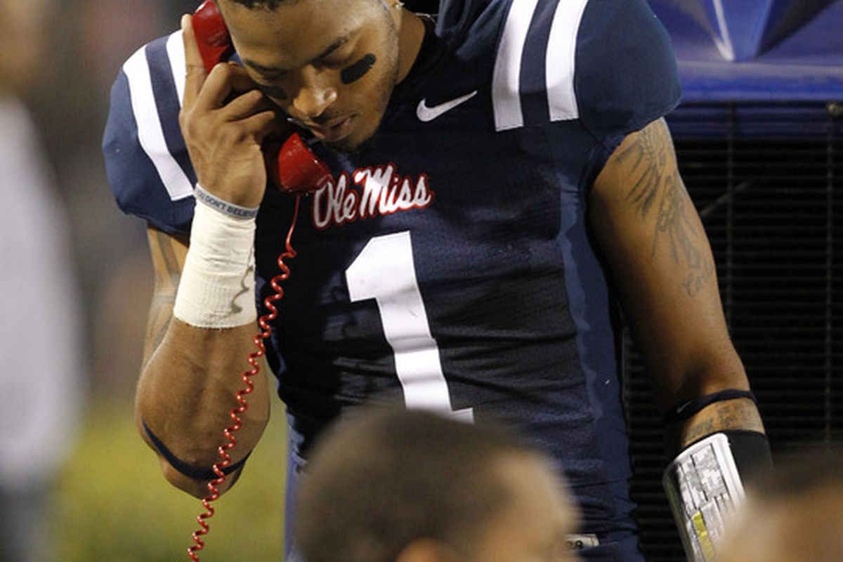 Perhaps that's the batphone, because Ole Miss's head coach definitely has the most Batman villain-like name in college football.