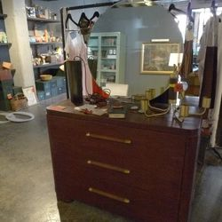art deco dresser w/ mirror: $250