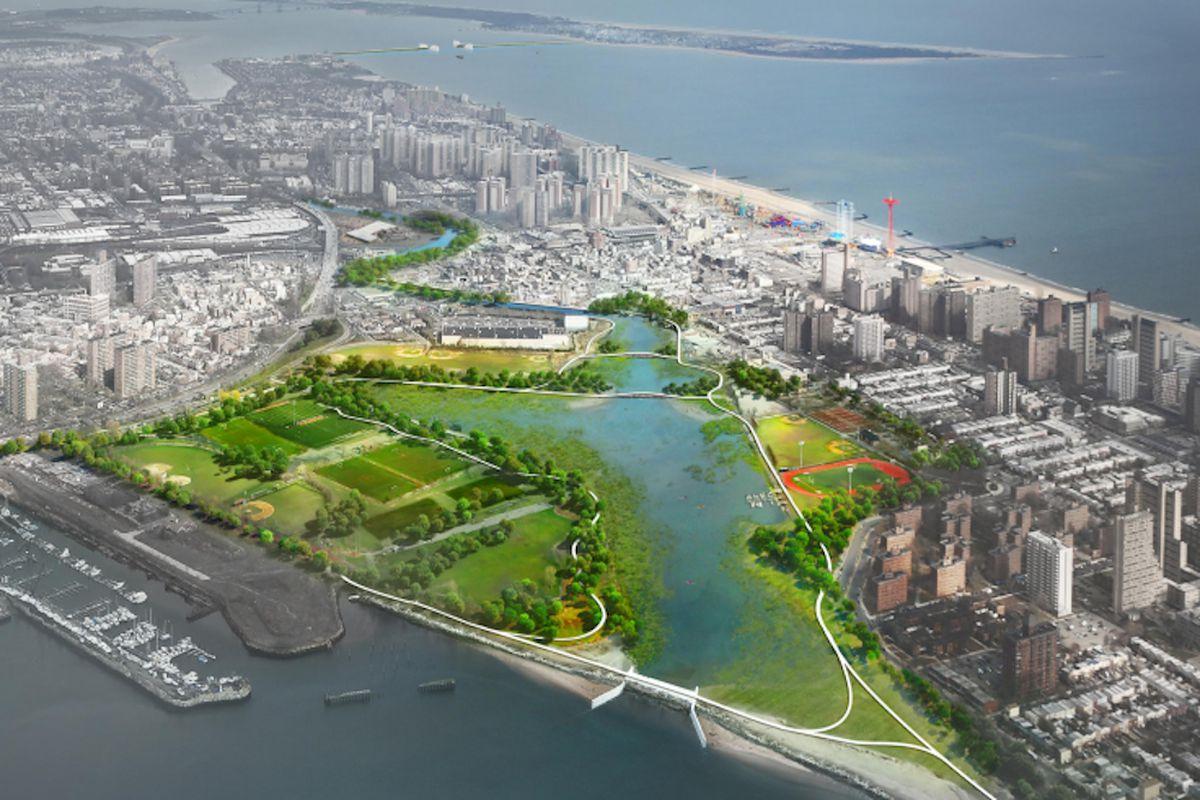 NYC Coney Island Creek wetlands plan (Credit; NYC.gov)