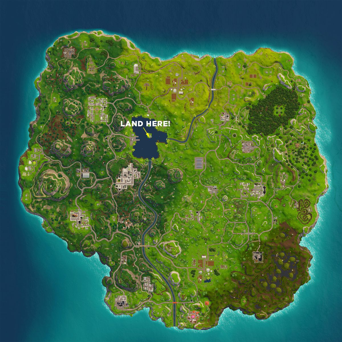fortnite battle royale nbsp map search between three boats nbsp - fortnite search floating lighting bolts