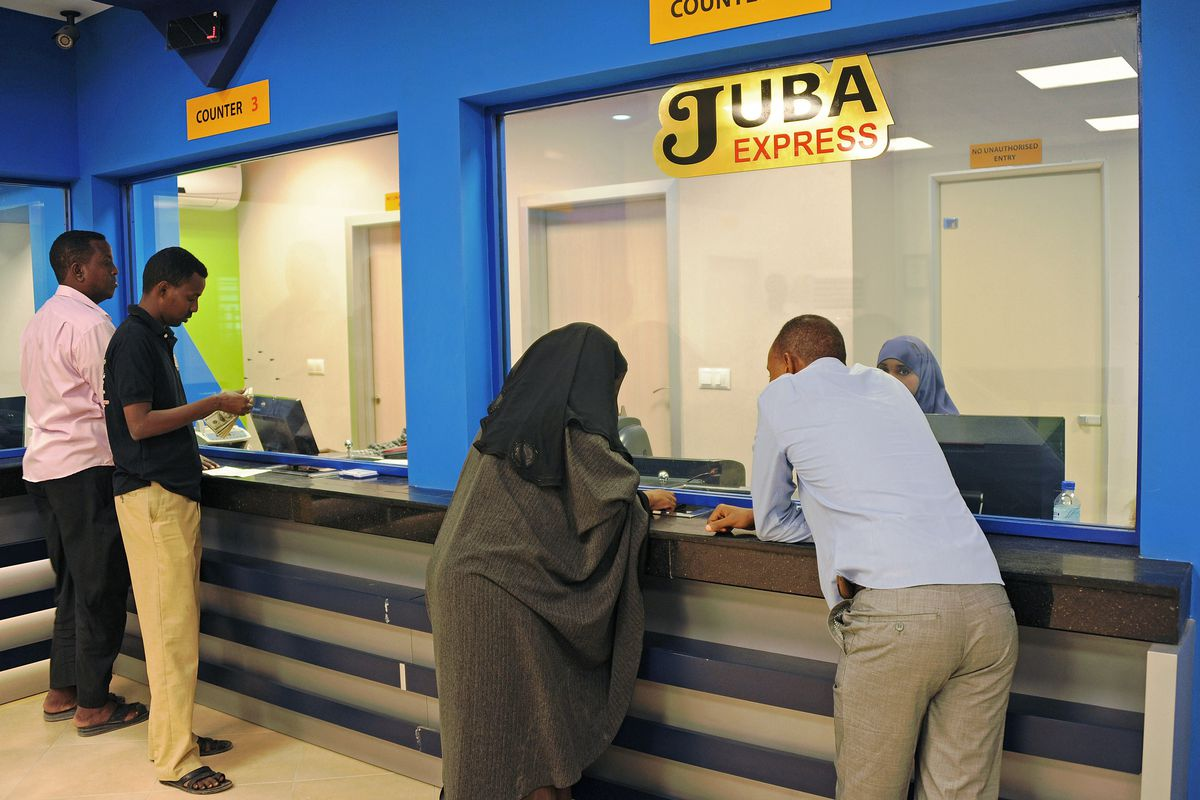 Customers Wait To Collect Money At The Juba Express Transfer Company In Mogadishu Mohamed Abdiwahab Afp Getty Images