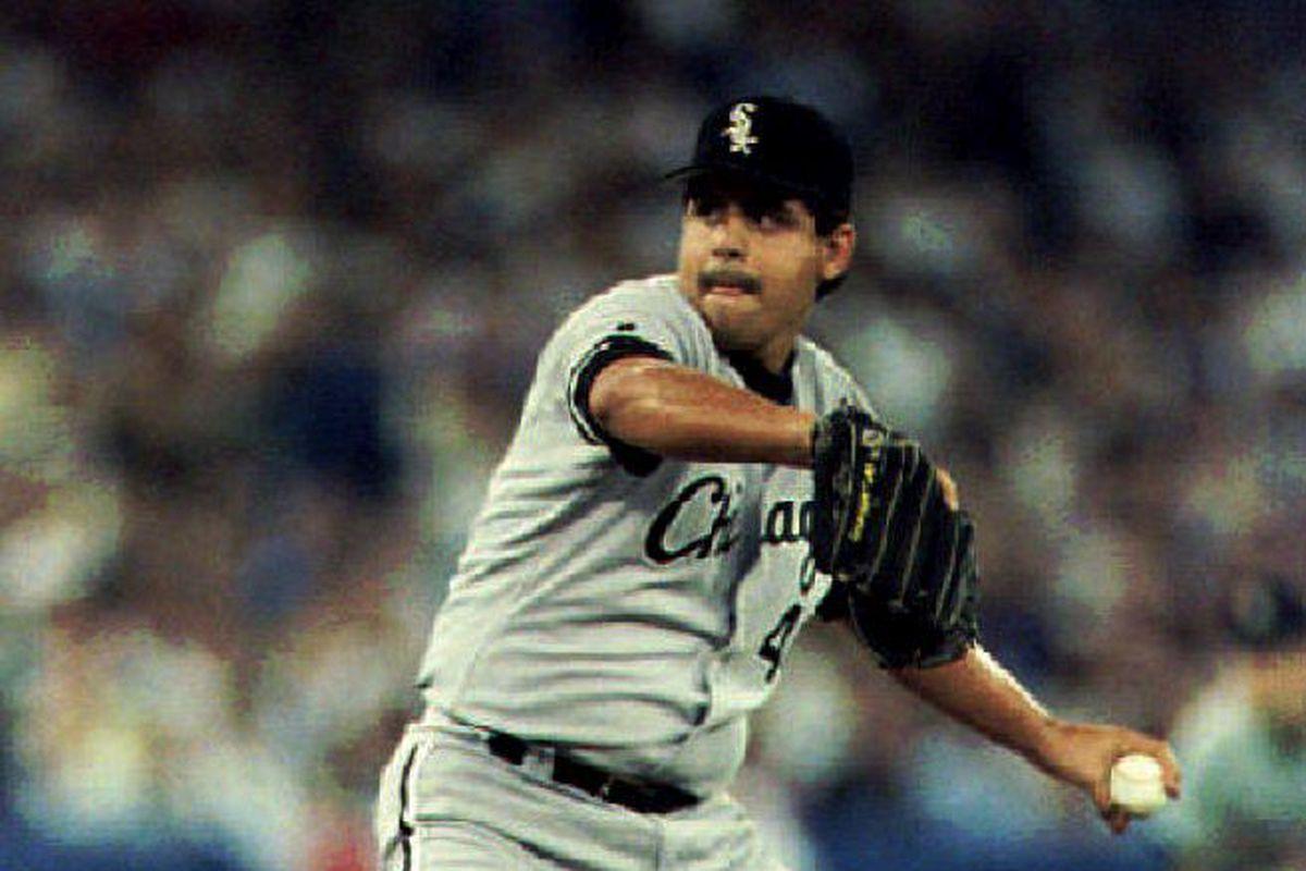 Chicago White Sox starting pitcher Wilson Alvarez