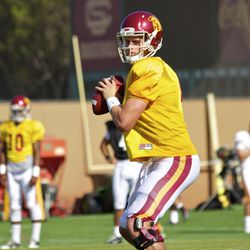 Max Browne took the first-team reps.
