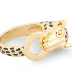 """<a href=""""http://www.cwonder.com/jewelry-accessories/shop-by-category/rings/mighty-roar-mountain-lion-ring.html"""">Might Roar Cheetah Ring</a> ($38) at C.Wonder in the King of Prussia Mall."""