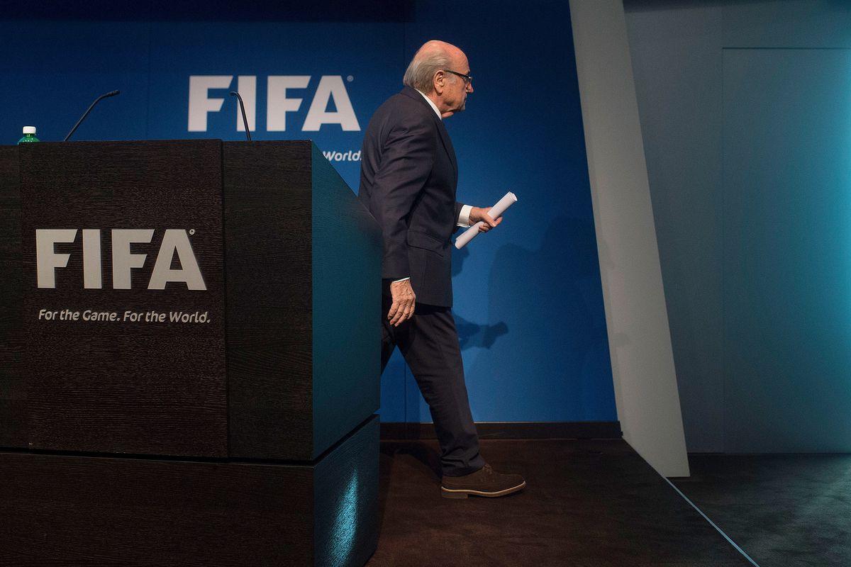 Longtime FIFA president Sepp Blatter announces his resignation on June 2.