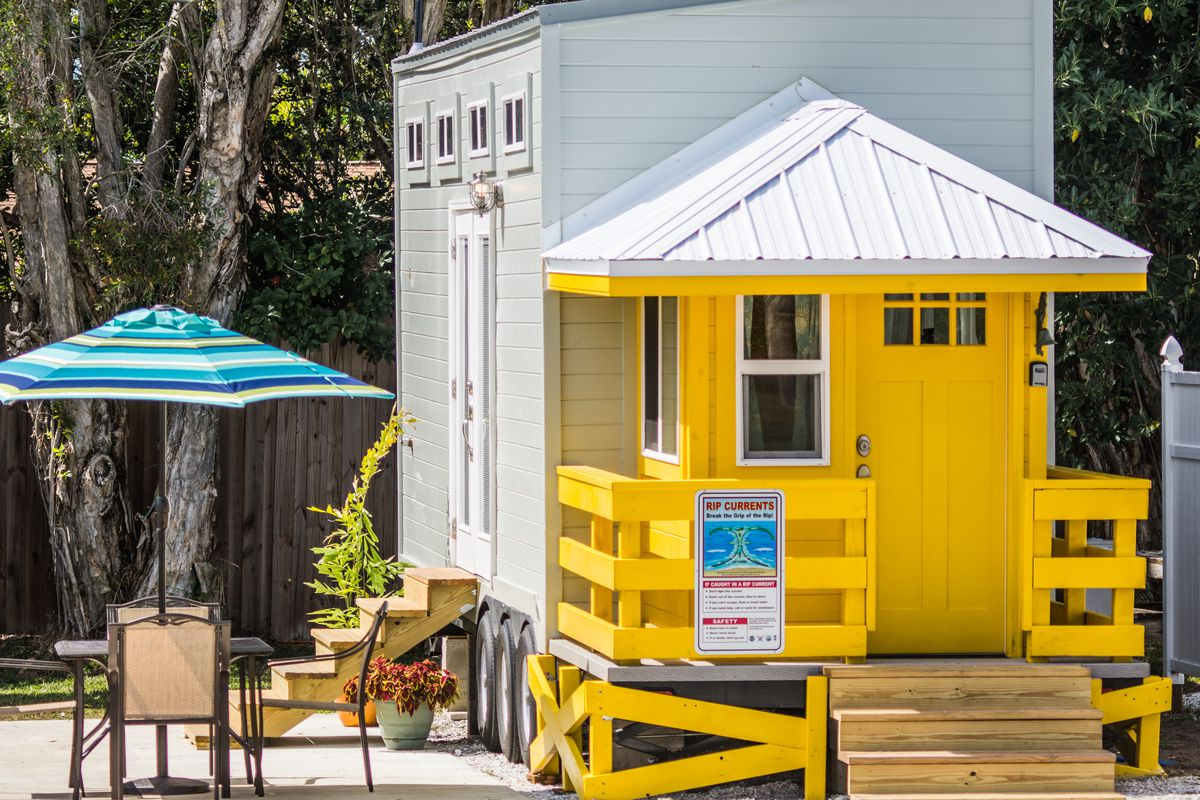 Tiny House Gets Beach Ready With A Lifeguard Stand Curbed