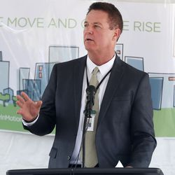 David Tanner, CEO of Granger Medical Clinic, speaks at the groundbreaking ceremony for the future clinic in West Valley City on Wednesday, Aug. 5, 2015.