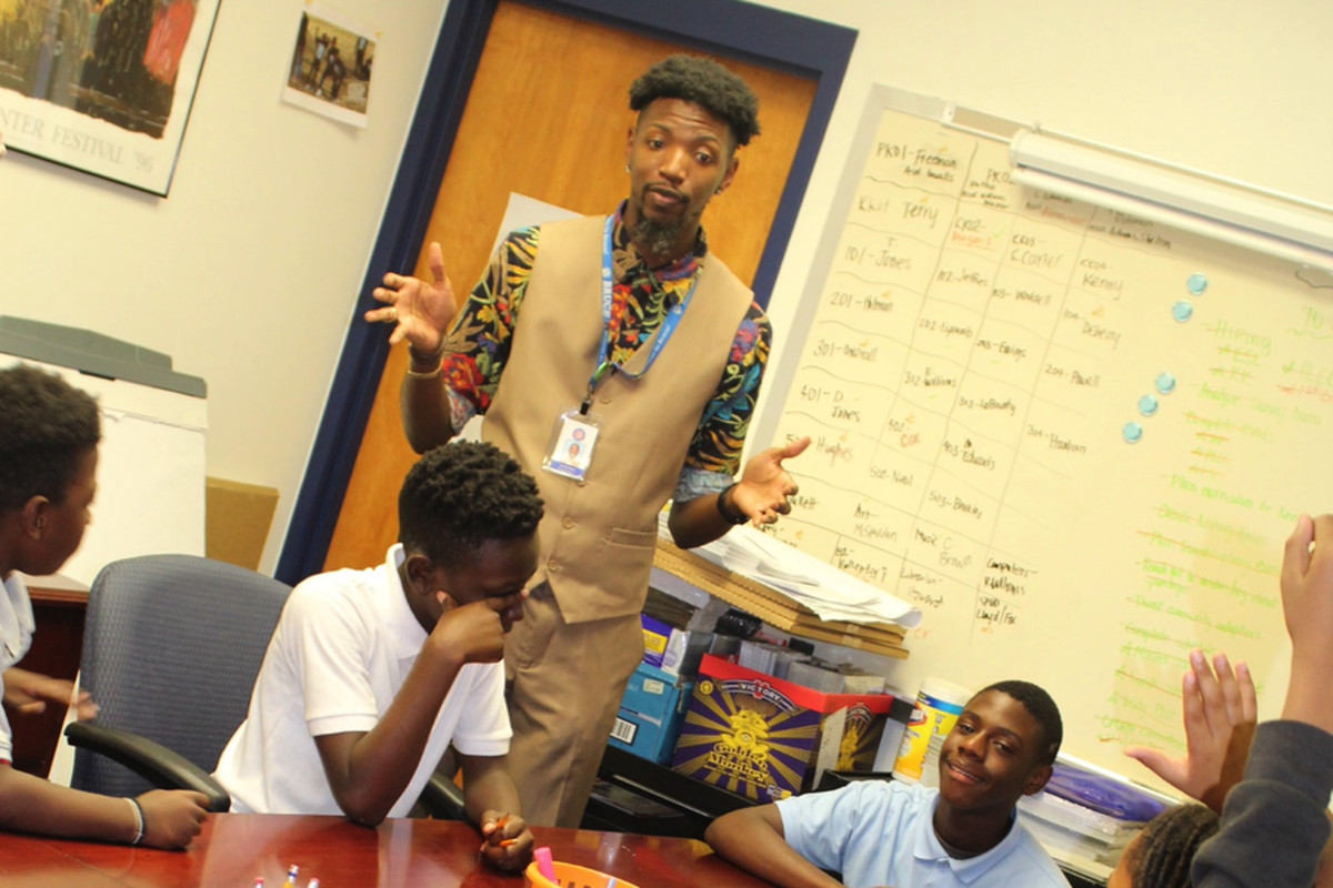Principal Archie Moss at Bruce Elementary School in Memphis.
