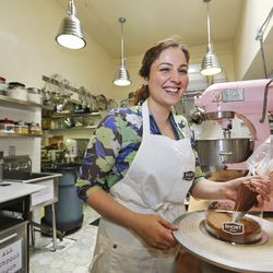 """Hourie Sahakian, Pastry Chef at Short Cake in Los Angeles [Photo by <a href=""""http://www.elizabethdanielsphotography.com/"""">Elizabath Daniels</a>]"""