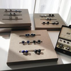 A collection of classy cufflinks.