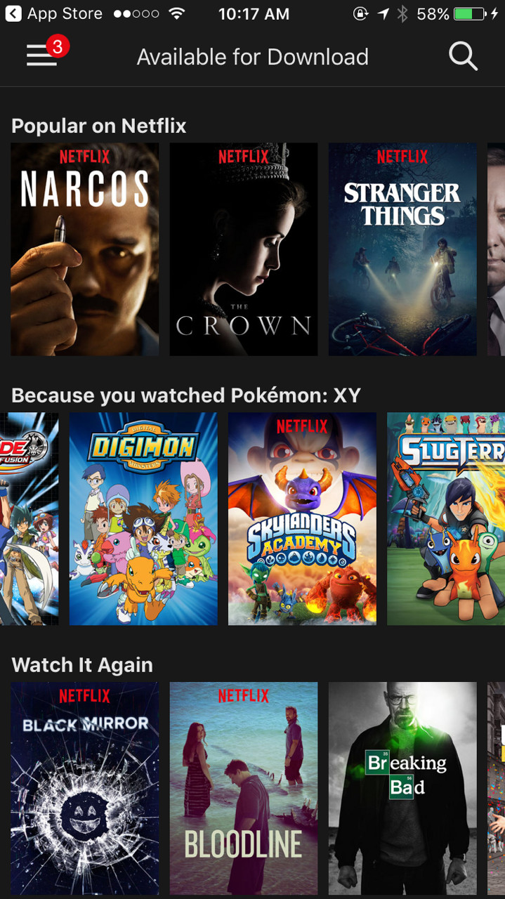 Netflix will let you download video to go, but not movies