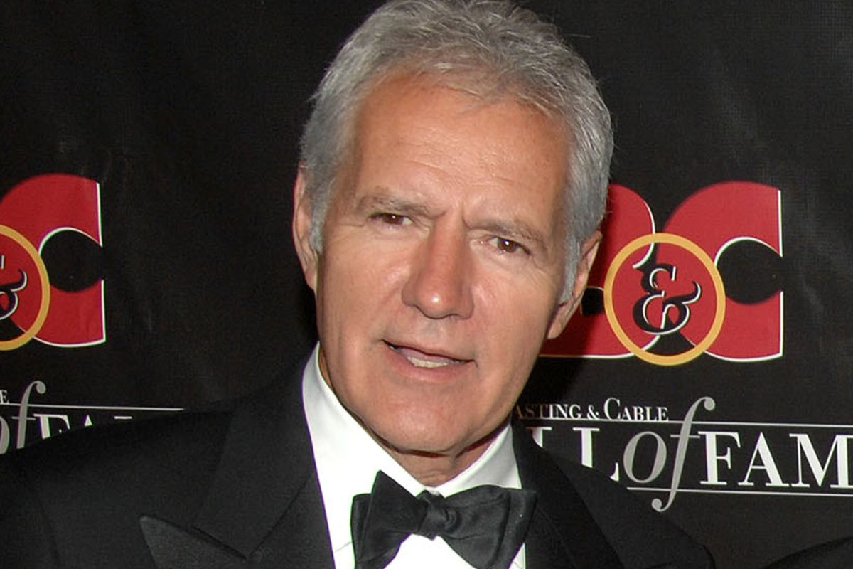 FILE - this Oct. 22, 2007 file photo shows game show host Alex Trebek at the 17th annual Broacasting and Cable Hall of Fame awards dinner in New York. Trebek remains in a Los Angeles hospital recovering from a mild heart attack. But Sony Pictures Televisi