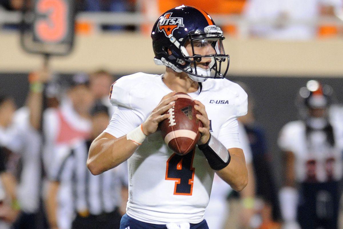 Freshman starting quarterback Blake Bogenschutz stares into a new era of UTSA football.