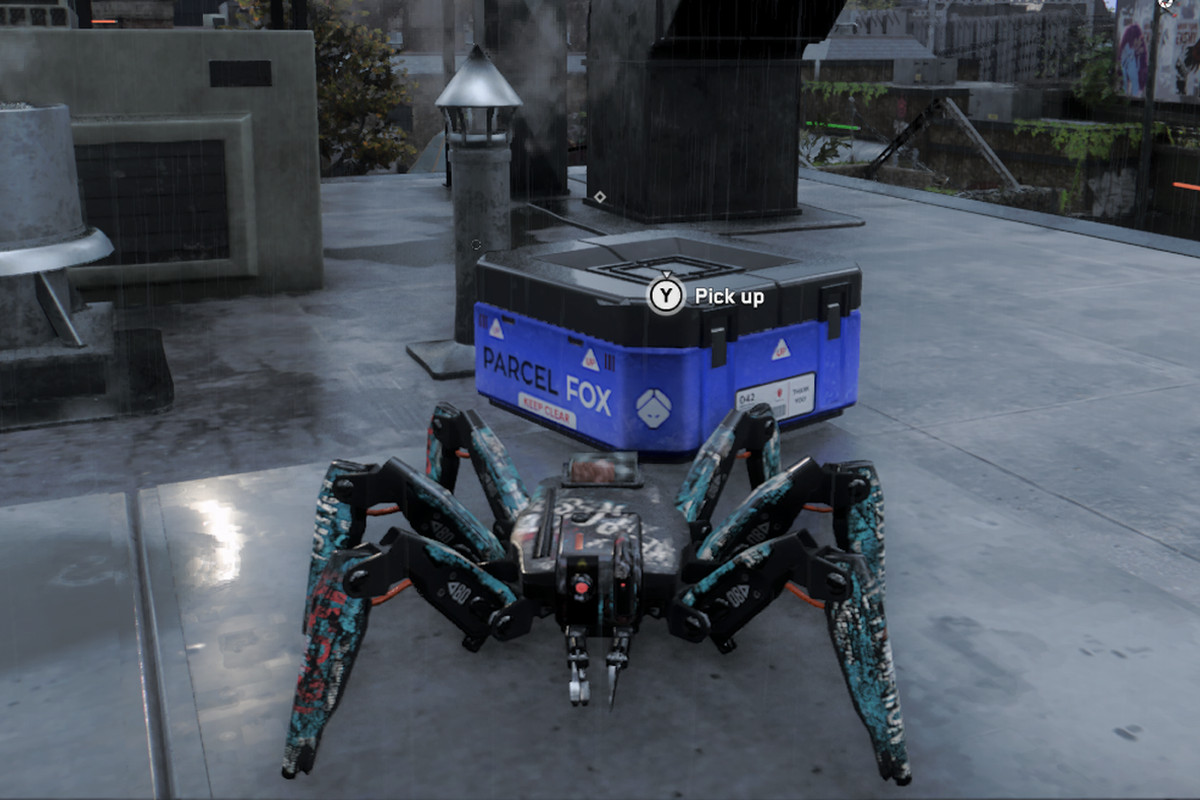 Watch Dogs: Legion Spiderbot picks up a mask