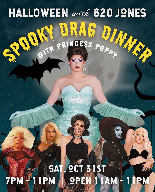 Flyer for Halloween drag show at Jones