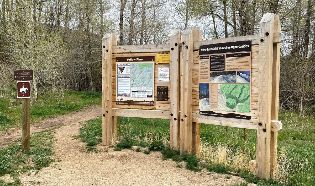 The Yellow Pine Trailhead in the Uinta-Wasatch-Cache National Forest is the starting and ending point of the new Slate Creek Mountain Bike Trail.