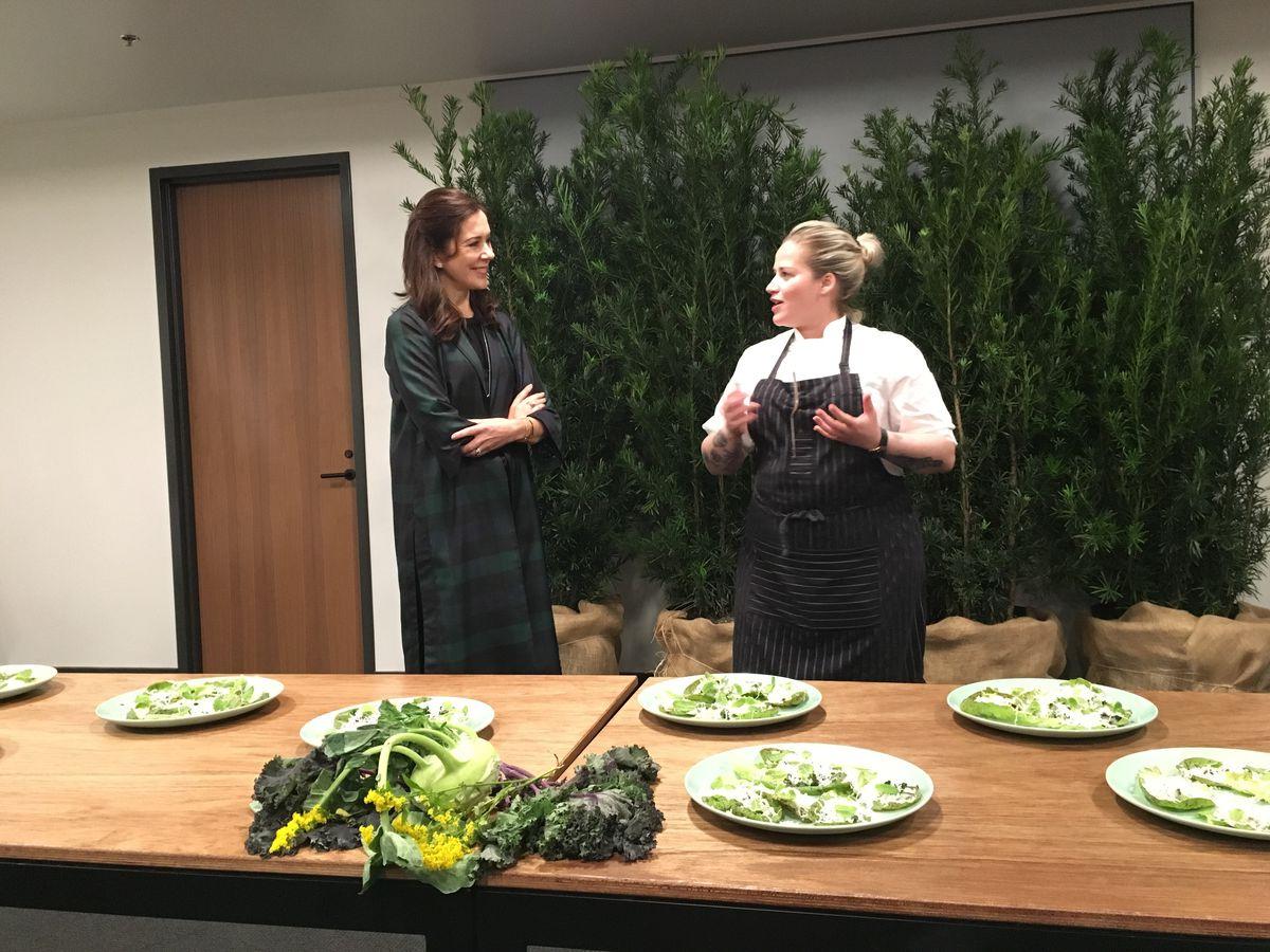 Crown Princess Mary of Denmark with Danish chef  Kamilla Seidler
