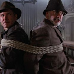 """Harrison Ford, left, and Sean Connery star in """"Indiana Jones and the Last Crusade."""""""