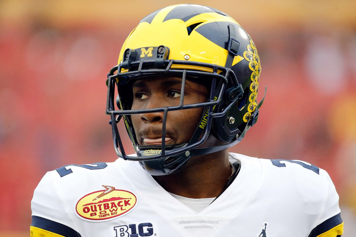 Michigan Wolverines CB David Long prior to the 2018 Outback Bowl against the South Carolina Gamecocks, Jan. 1, 2018.