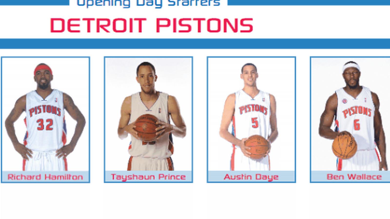 Detroit Pistons Starting Five