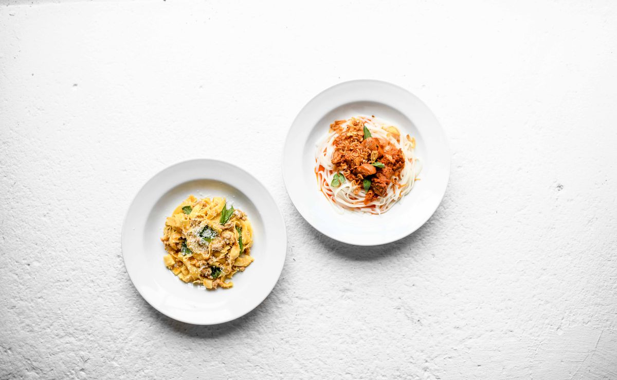 Two pasta dishes from Novel