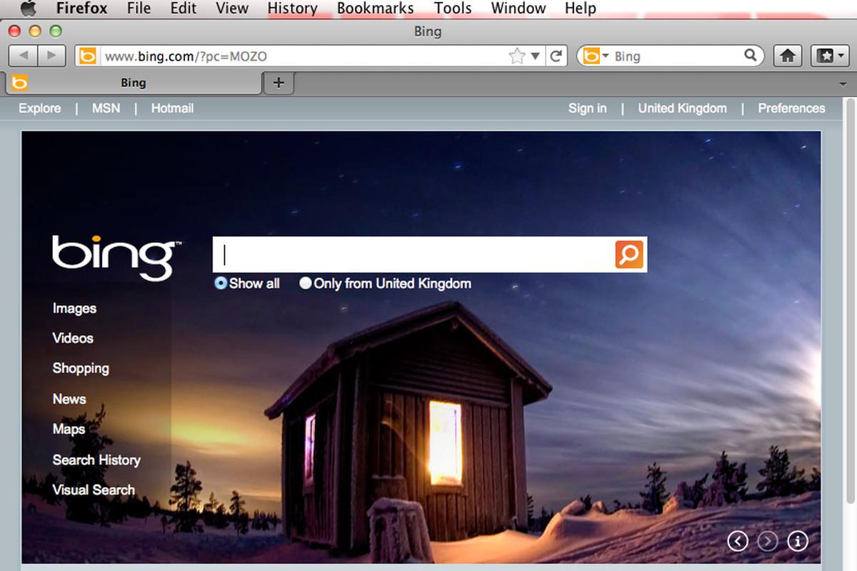 Firefox with Bing
