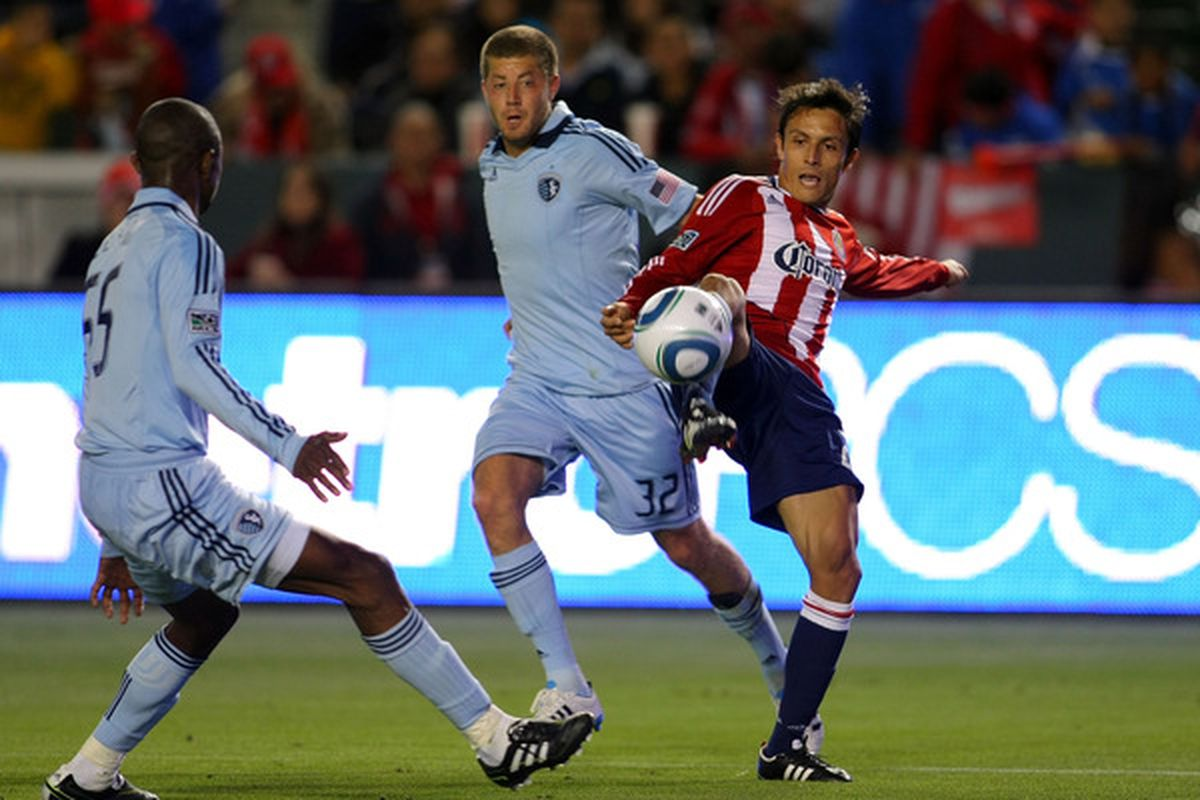 Midfielder Luke Sassano (#32) has re-signed with Sporting Kansas City. (Photo by Victor Decolongon/Getty Images)
