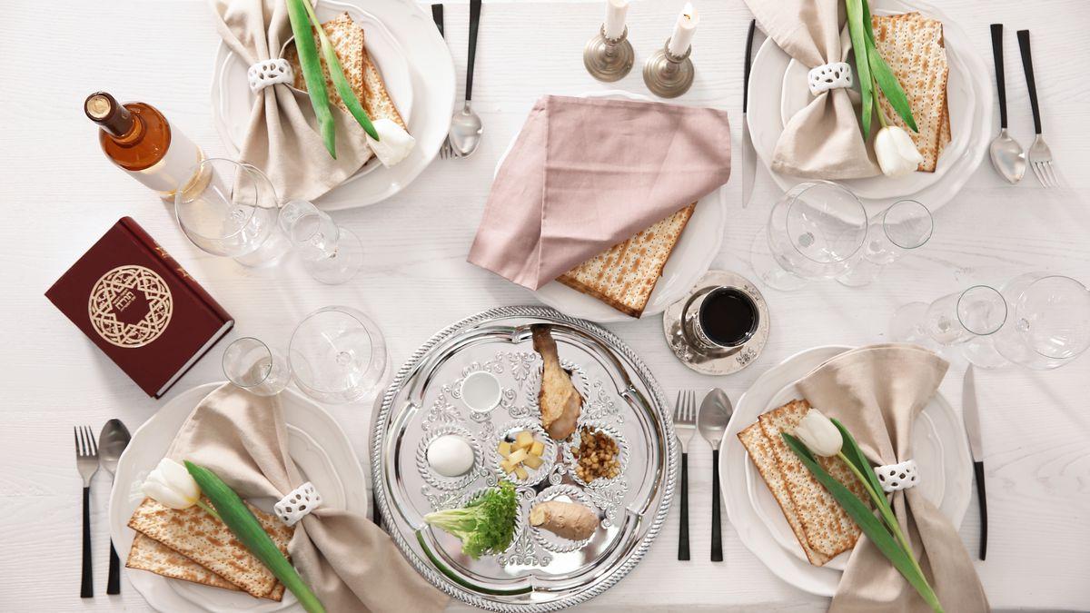 Image result for passover seder vset up