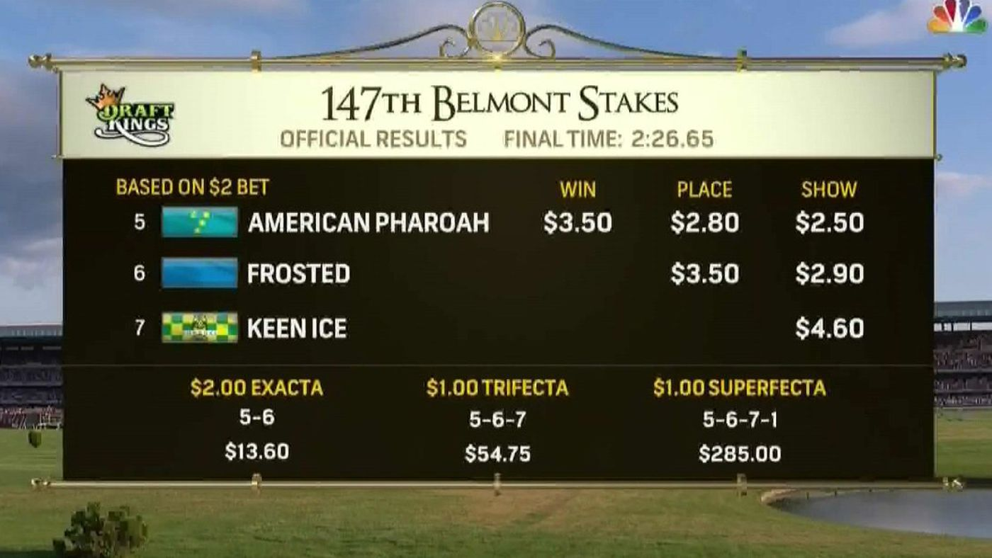 betting payout for belmont stakes