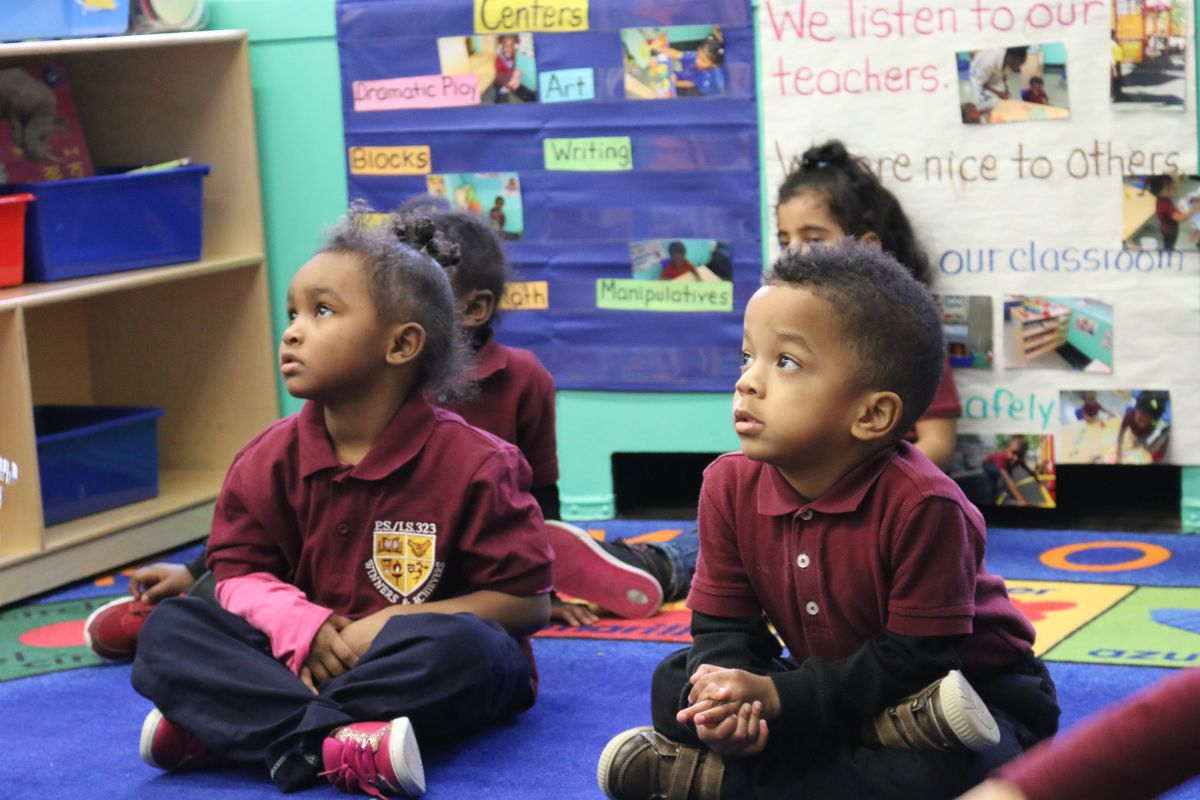 Three-year-old students in one of the city's 3-K for All free preschool program.