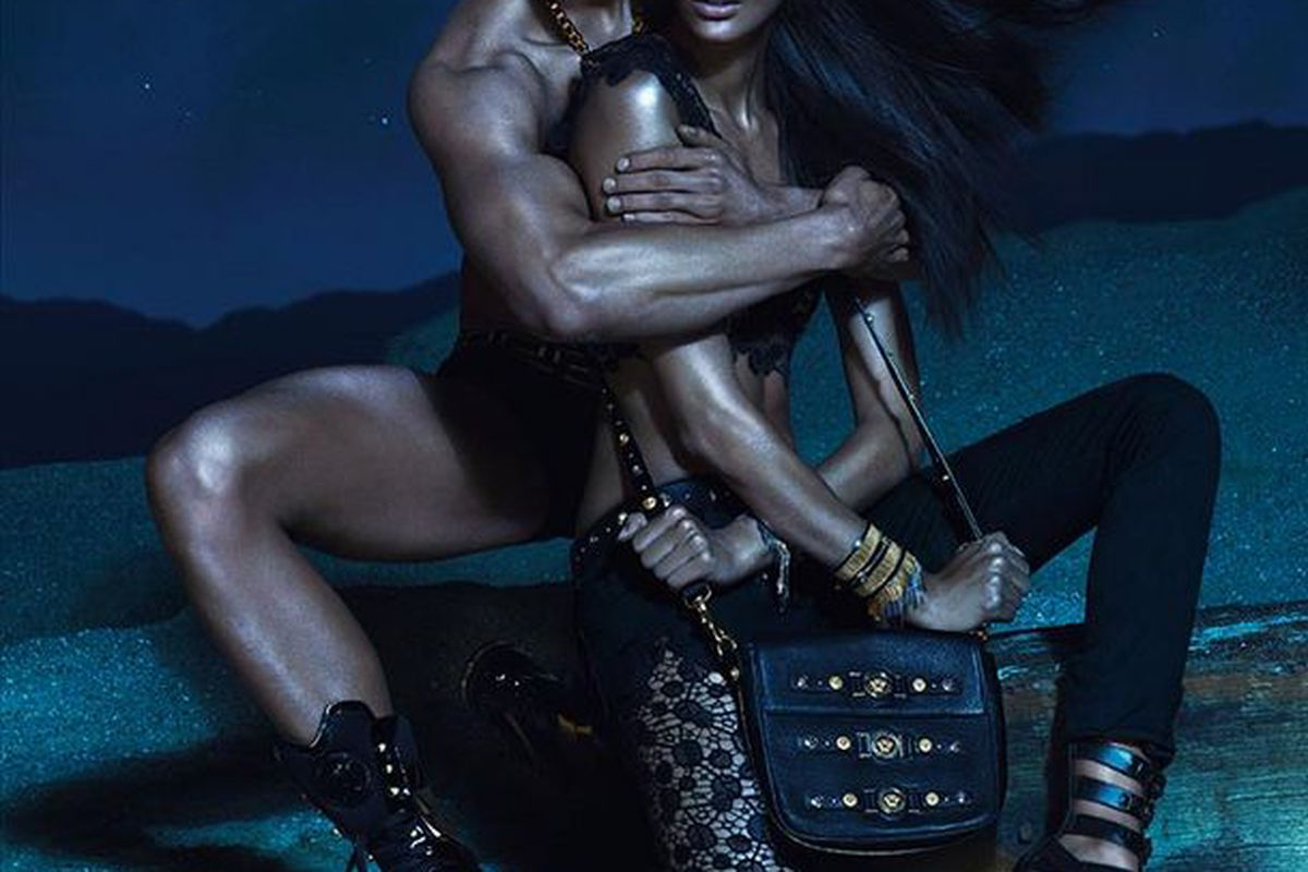 Joan Smalls for Versace Spring 2013
