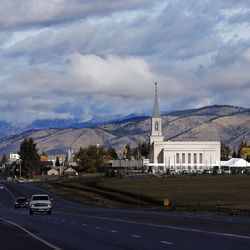 The Star Valley Wyoming Temple in Afton, Wyoming, on Saturday, Oct. 29, 2016.
