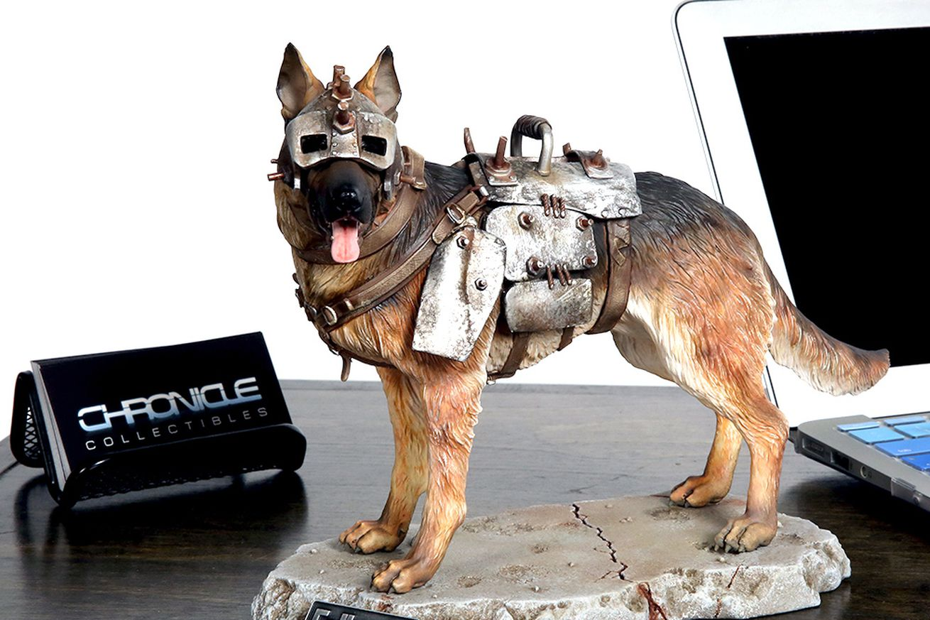 this fallout 4 dogmeat statue looks amazing