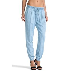 """<strong>C&C California</strong> Pants in Textured Chambray, <a href=""""http://www1.bloomingdales.com/shop/product/c-c-california-pants-textured-chambray?ID=982621"""">$138</a> at Bloomingdale's"""