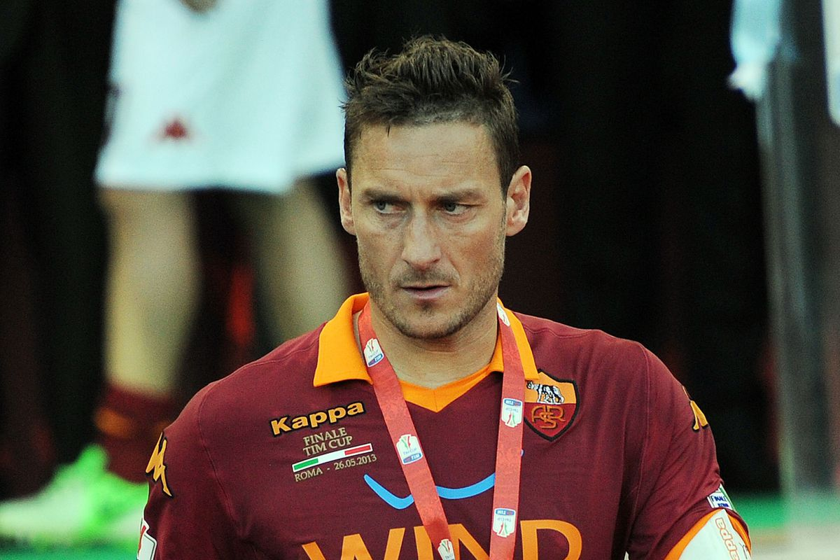 Totti seems about as happy about his consolation medal as many TFC fans feel about this friendly