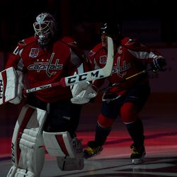 Holtby and Ovechkin Take Ice