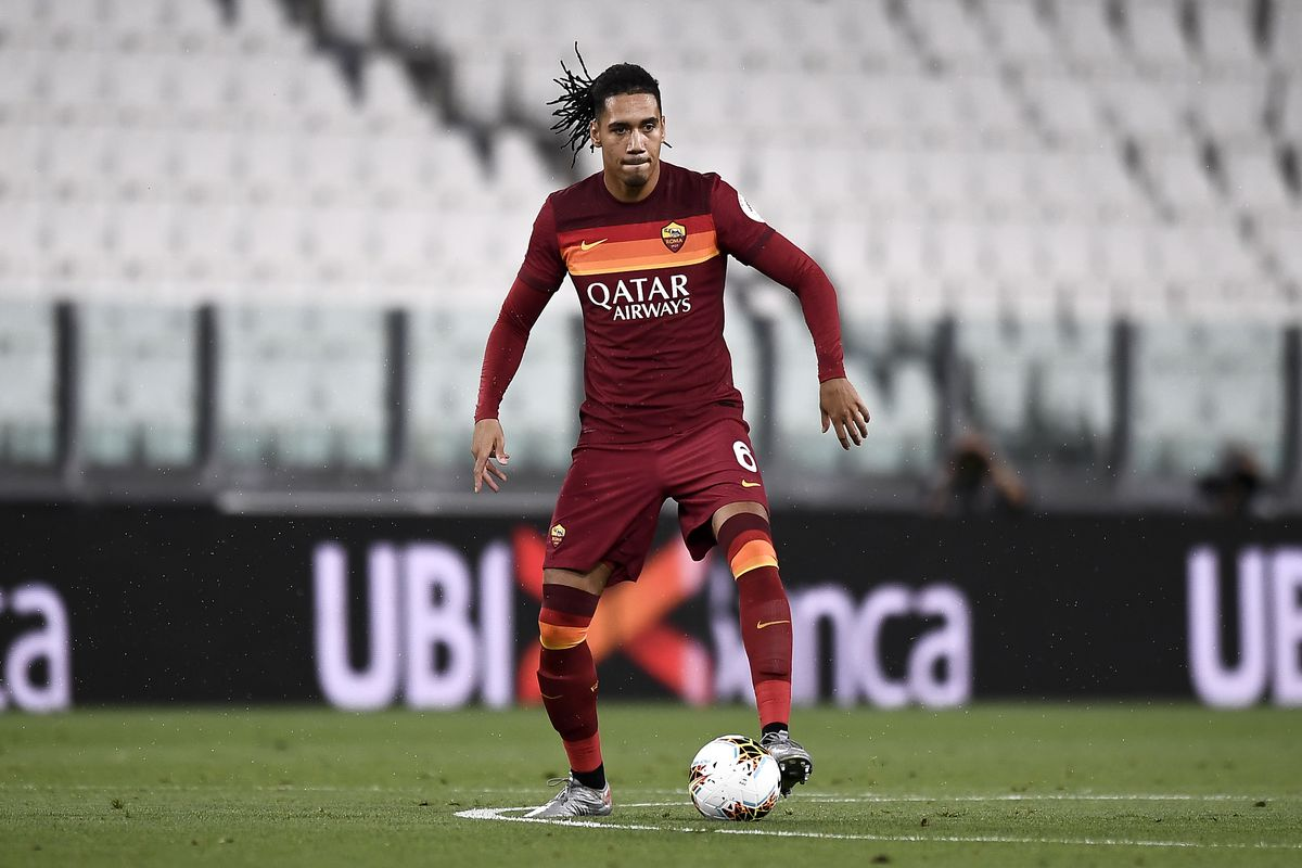 Chris Smalling of AS Roma in action during the Serie A...