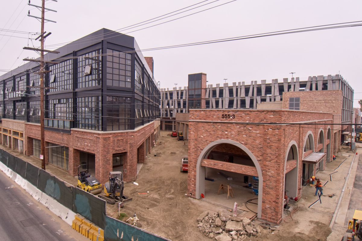 A photo of the under-construction At Mateo project.