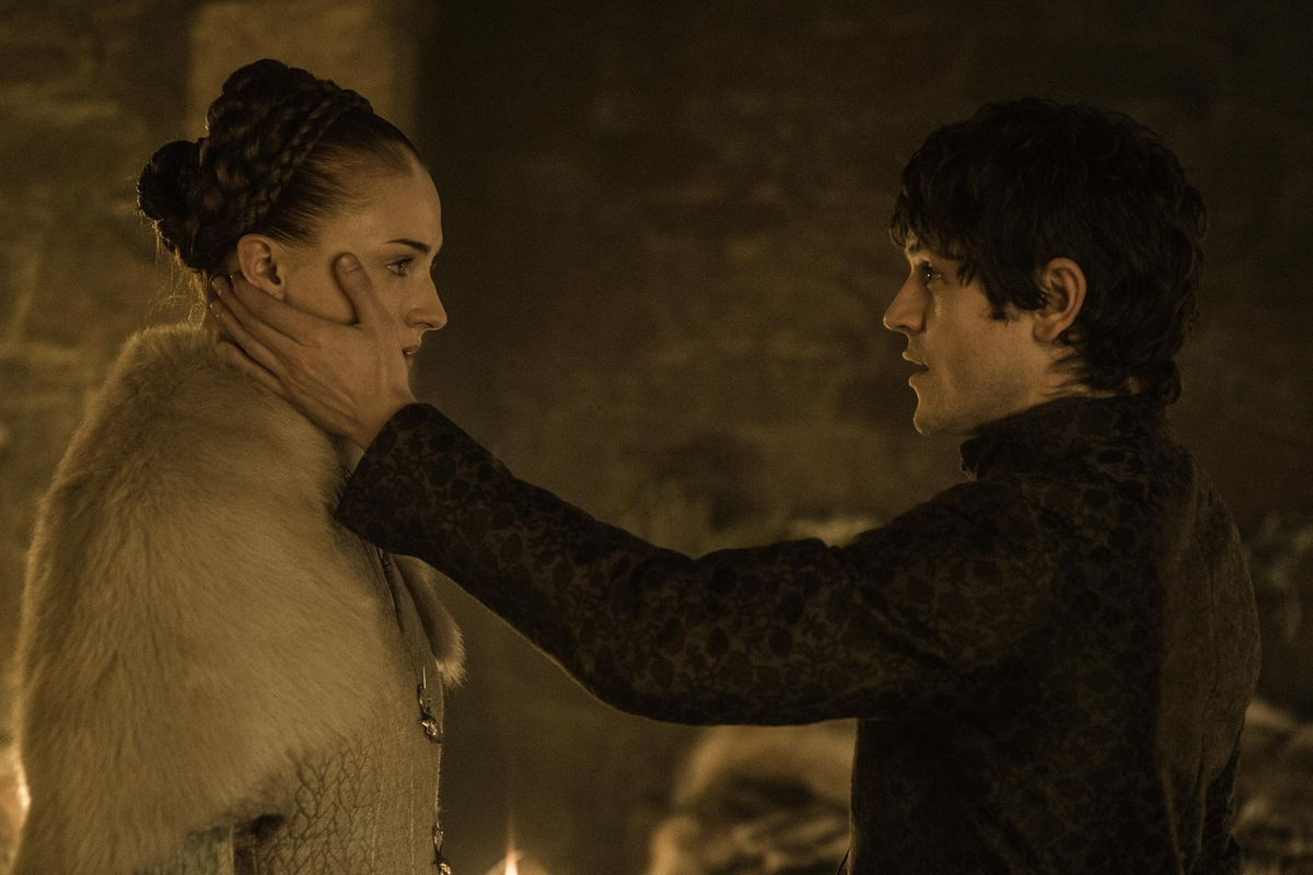 Sansa Stark and Ramsay Bolton.