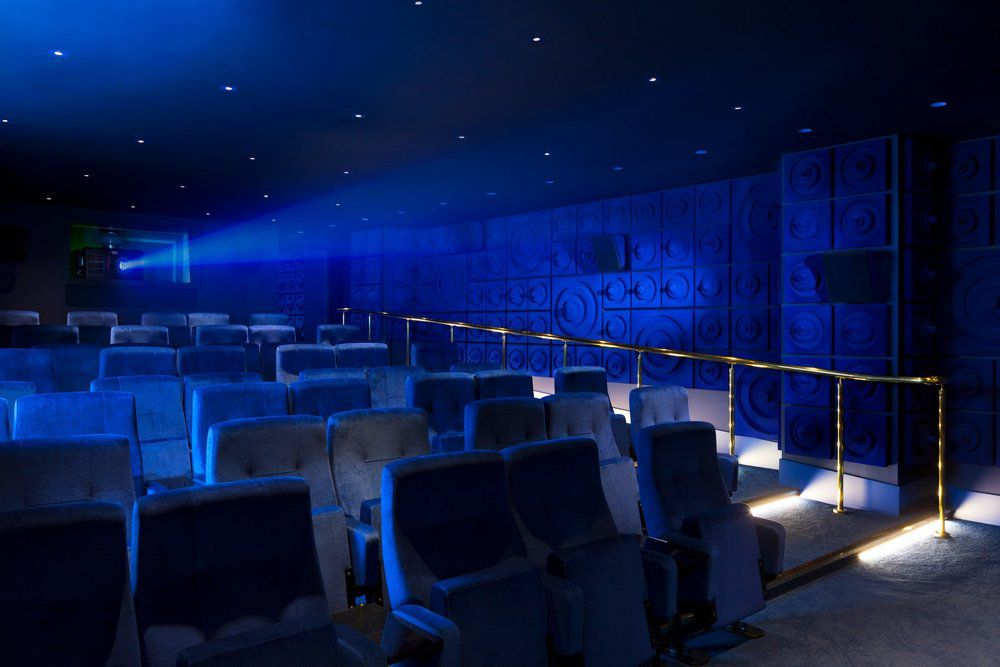 Screening room at the Curzon Mondrian cinema on the Southbank, one of the best places for cinema food in London