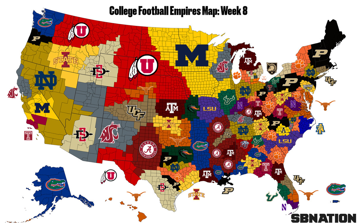 College Football Empires Map Page 2 Pac12 Sports Pac 12