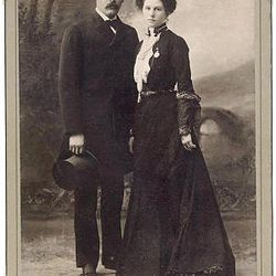Harry Longabaugh, the Sundance Kid, and Etta Place pose before they headed to South America.