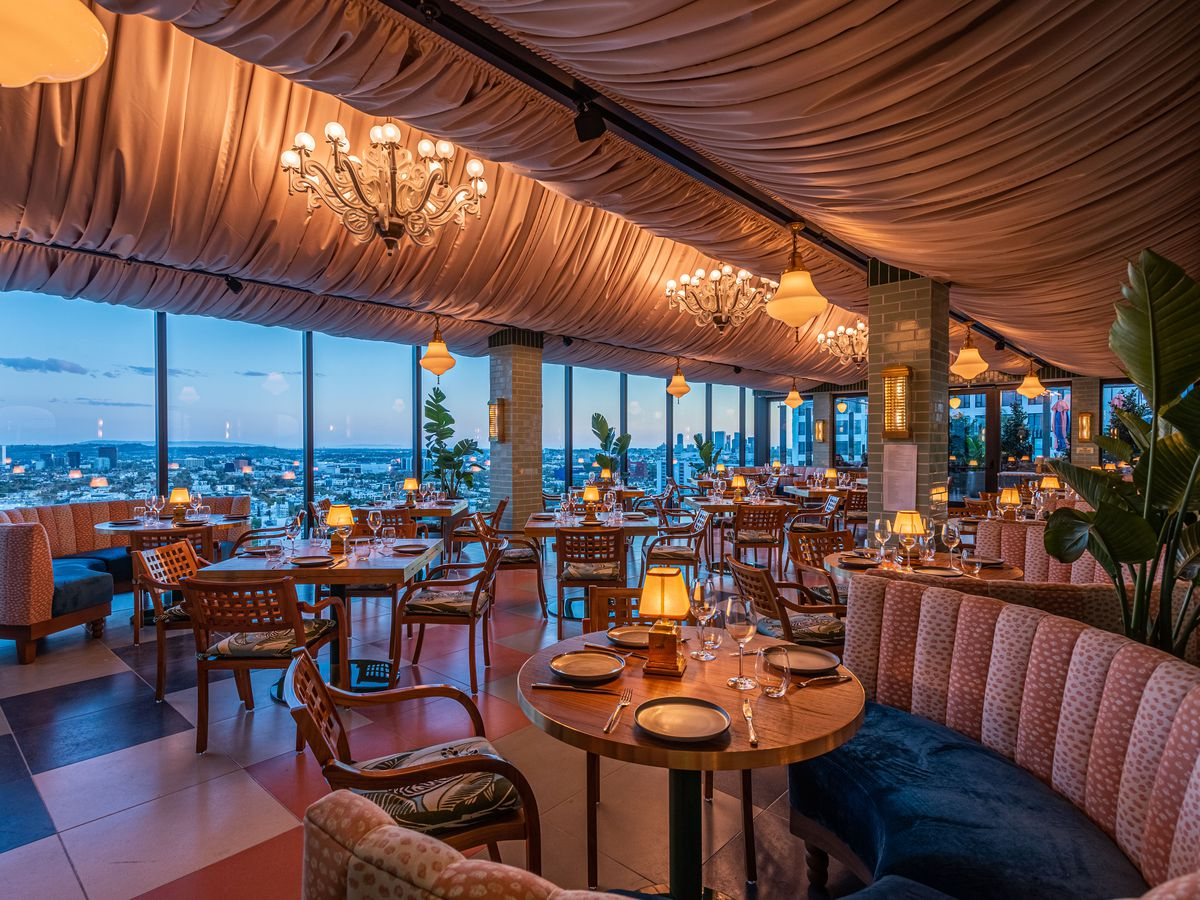 Merois's dining room at Pendry West Hollywood.