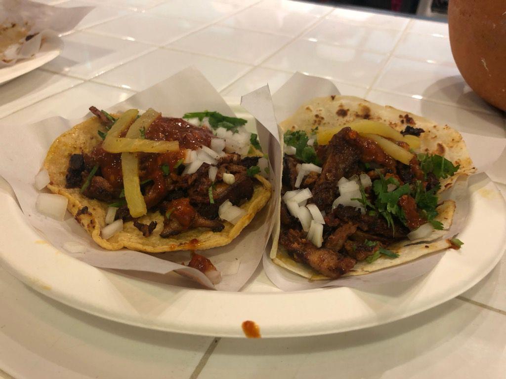 Al pastor tacos at Los Tacos No. 1