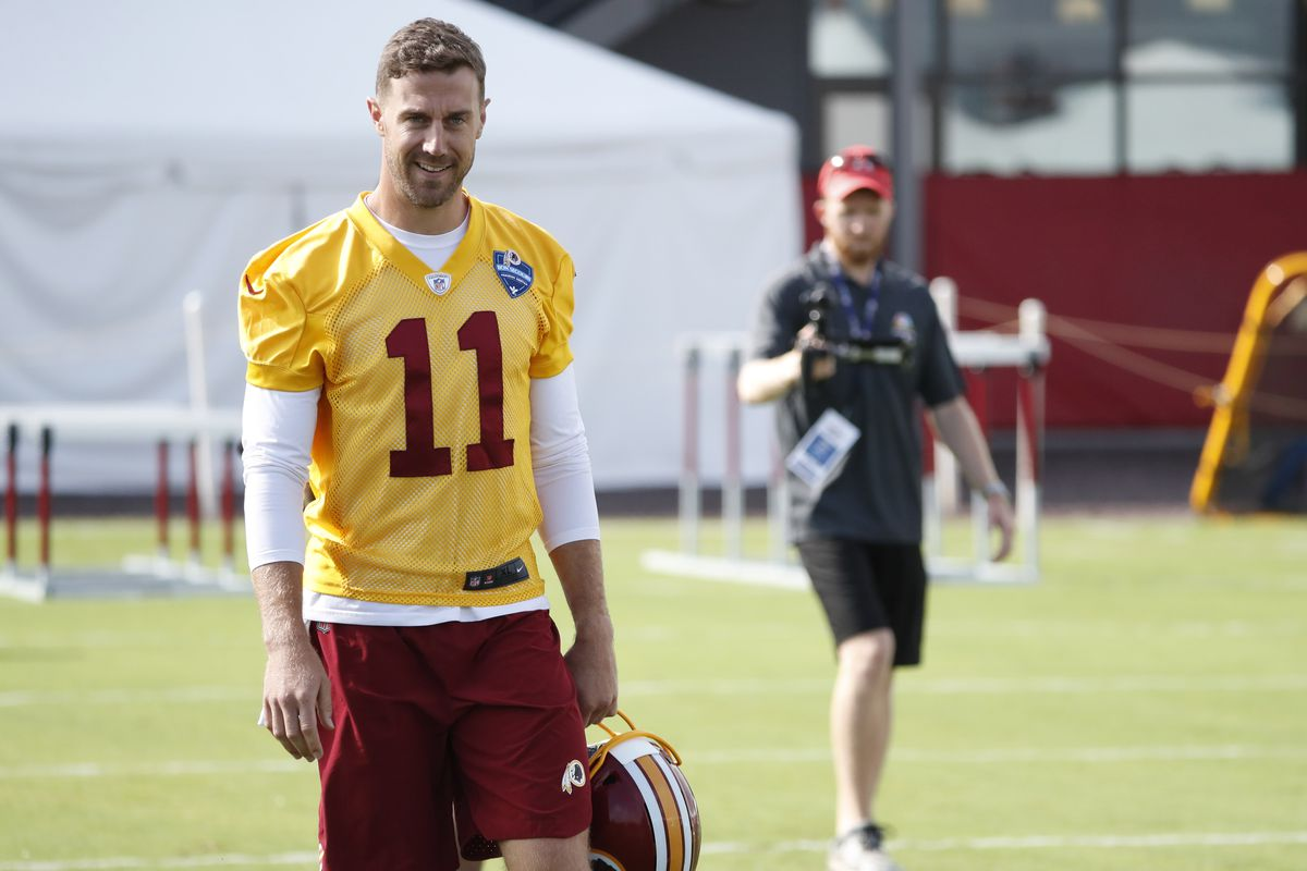 buy popular 56329 49cc4 Alex Smith Presser: Redskins Training Camp Day 1 - Hogs Haven