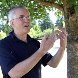 In this Aug. 19, 2011, photo, Steven Powell, the father-in-law of missing Utah woman Susan Powell, talks in Puyallup, Wash., about the search for Susan Powell.