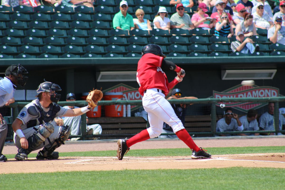 Jesmuel Valentin had a walk-off hit for the Loons on Sunday.