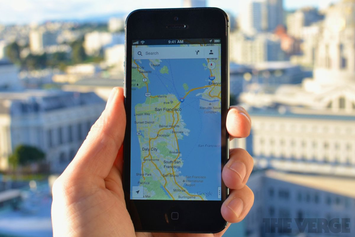 google maps for iphone is here how data and design beat apple  - google maps for iphone
